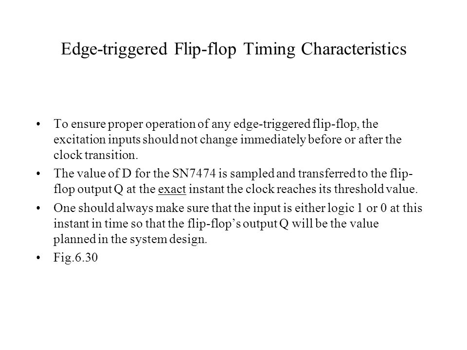 Edge-triggered Flip-flop Timing Characteristics