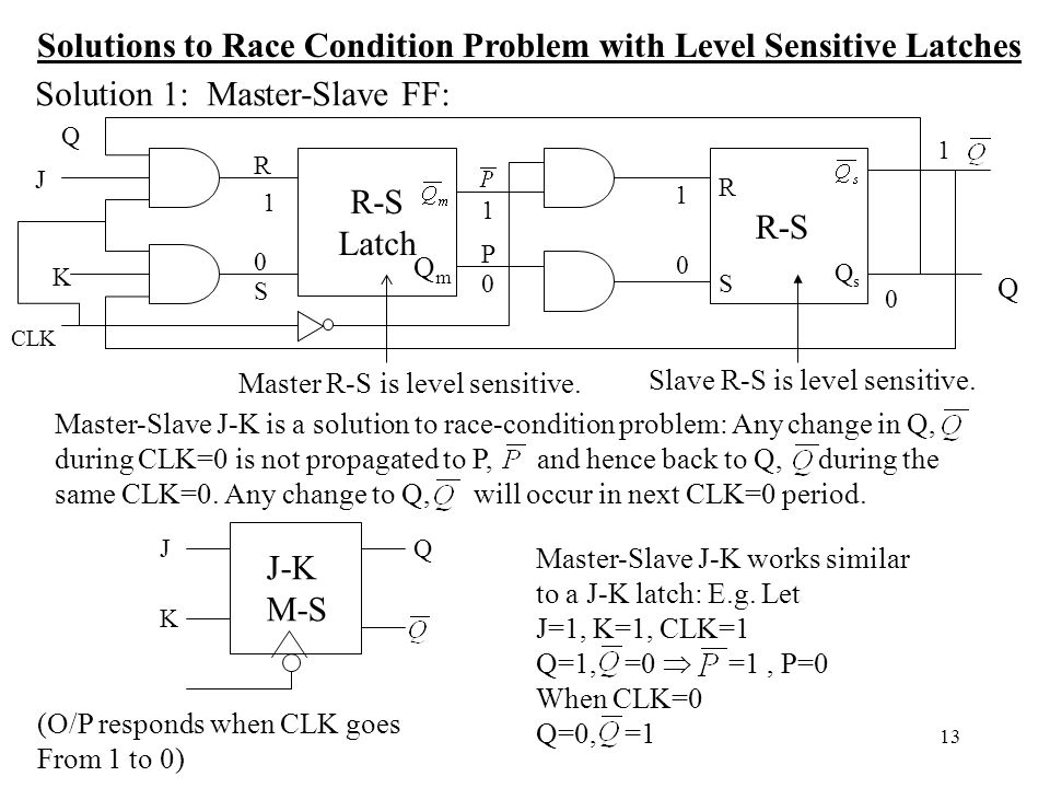 Solutions to Race Condition Problem with Level Sensitive Latches