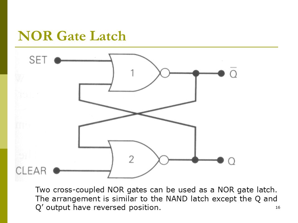 NOR Gate Latch