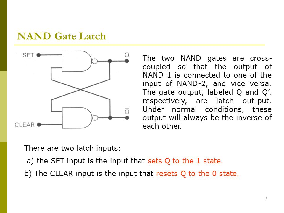 NAND Gate Latch