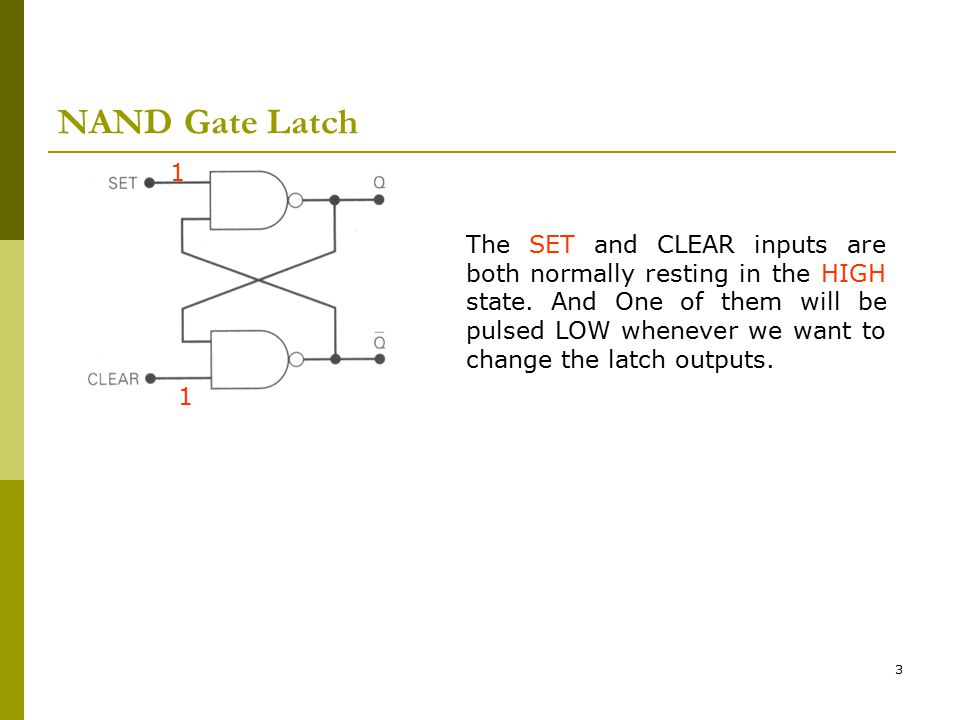 NAND Gate Latch 1.