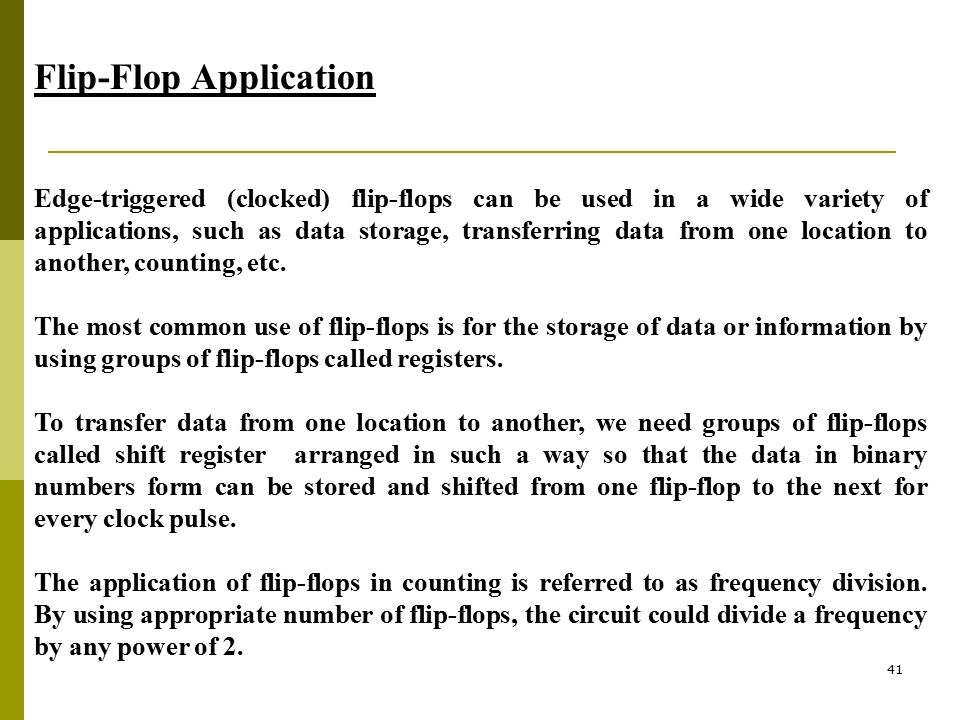 Flip-Flop Application