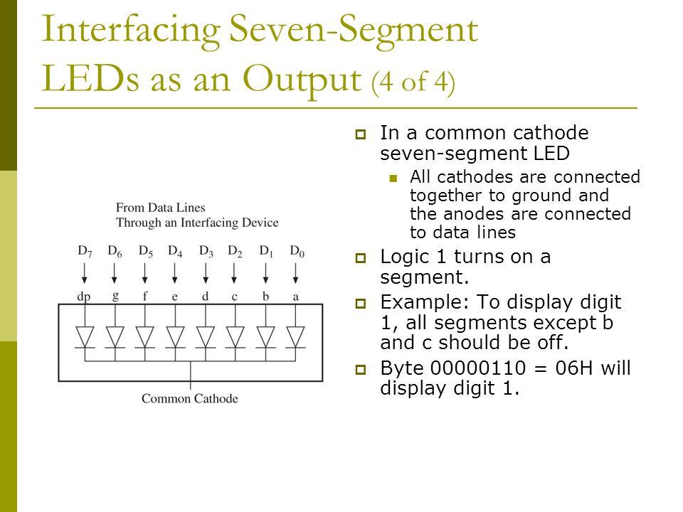 Interfacing Seven-Segment LEDs as an Output (4 of 4)