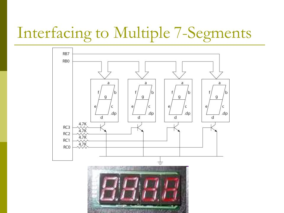 Interfacing to Multiple 7-Segments