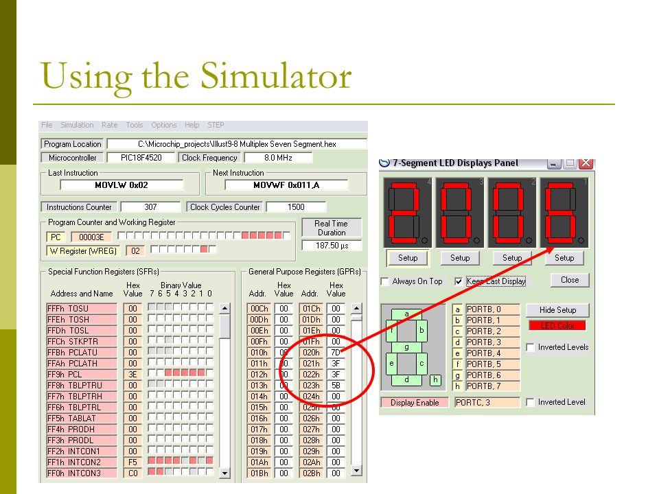 Using the Simulator