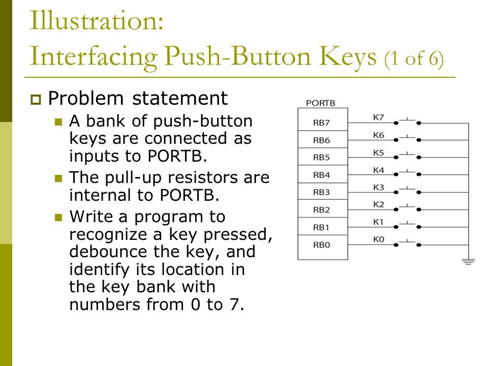 Illustration: Interfacing Push-Button Keys (1 of 6)
