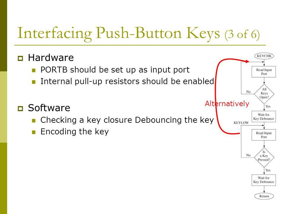 Interfacing Push-Button Keys (3 of 6)