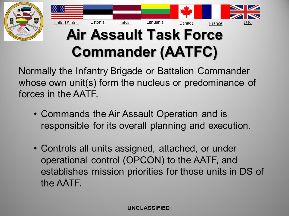 Air Assault Task Force Commander (AATFC)