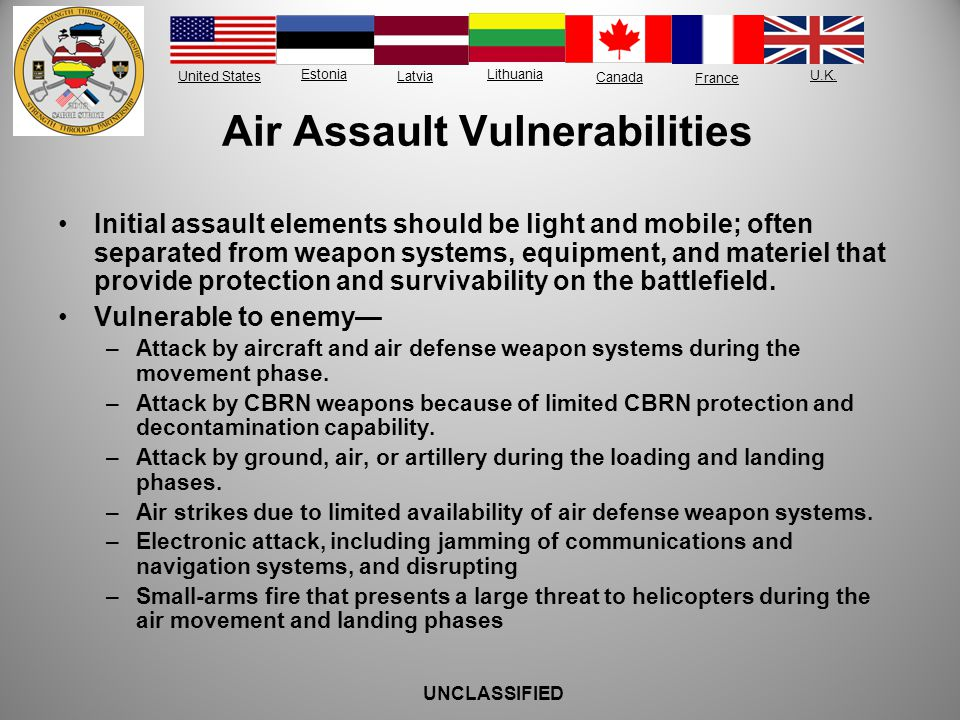 Air Assault Vulnerabilities