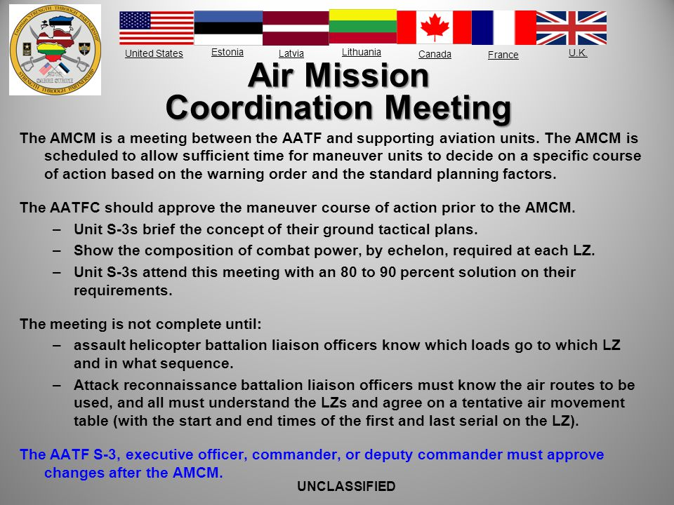 Air Mission Coordination Meeting