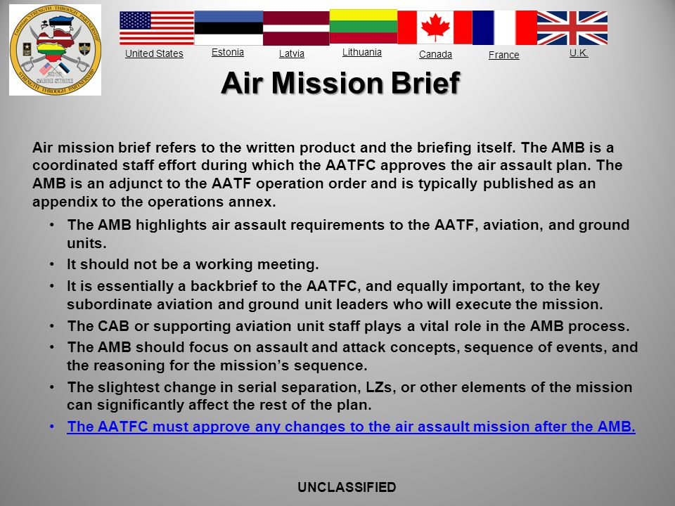 Air Mission Brief