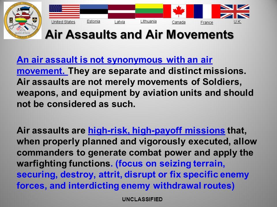 Air Assaults and Air Movements