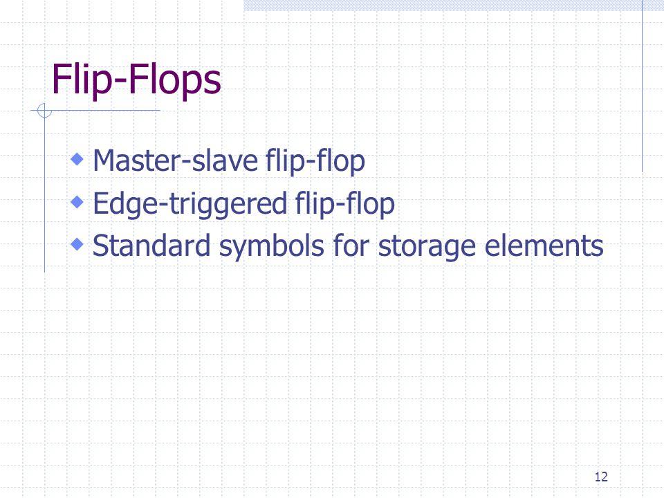 Flip-Flops Master-slave flip-flop Edge-triggered flip-flop