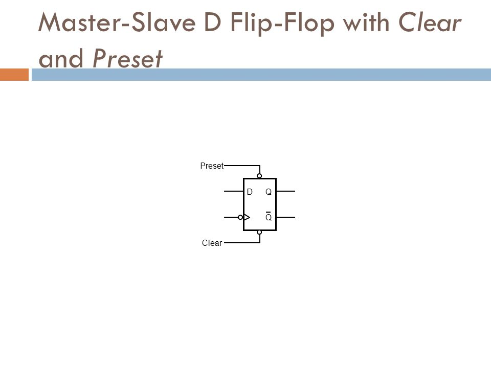 Master-Slave D Flip-Flop with Clear and Preset