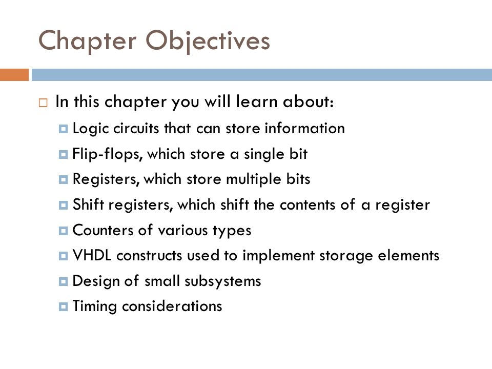 Chapter Objectives In this chapter you will learn about: