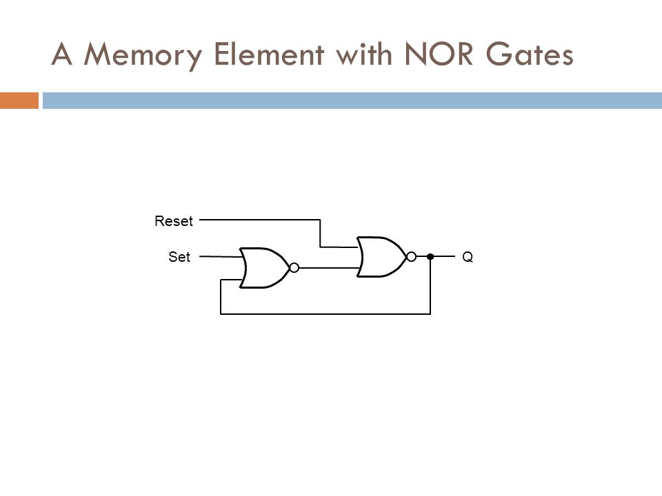 A Memory Element with NOR Gates