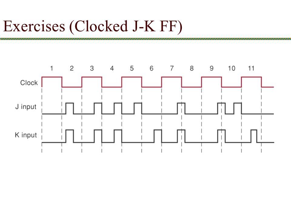 Exercises (Clocked J-K FF)