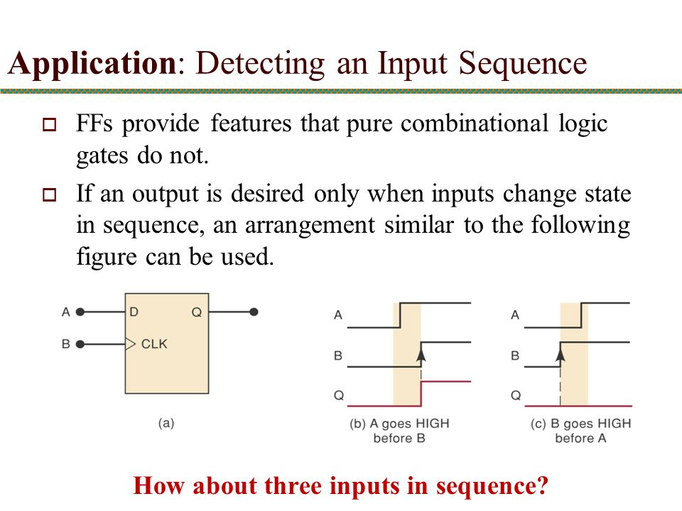 How about three inputs in sequence