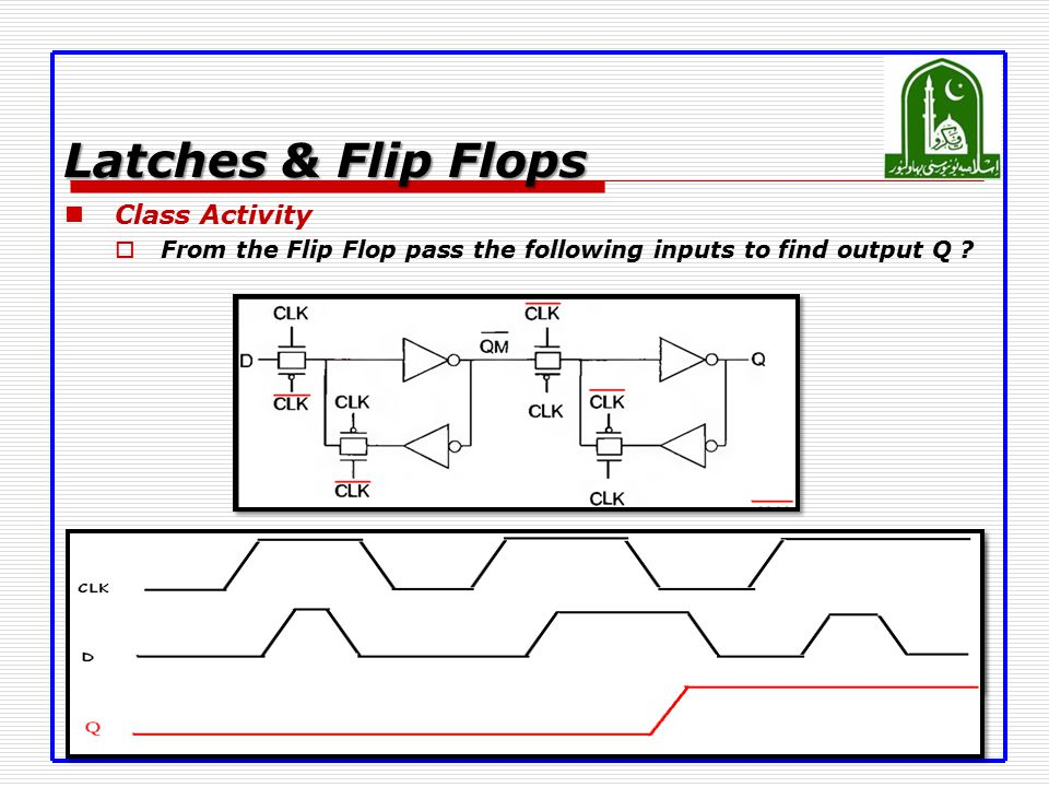 Latches & Flip Flops Class Activity