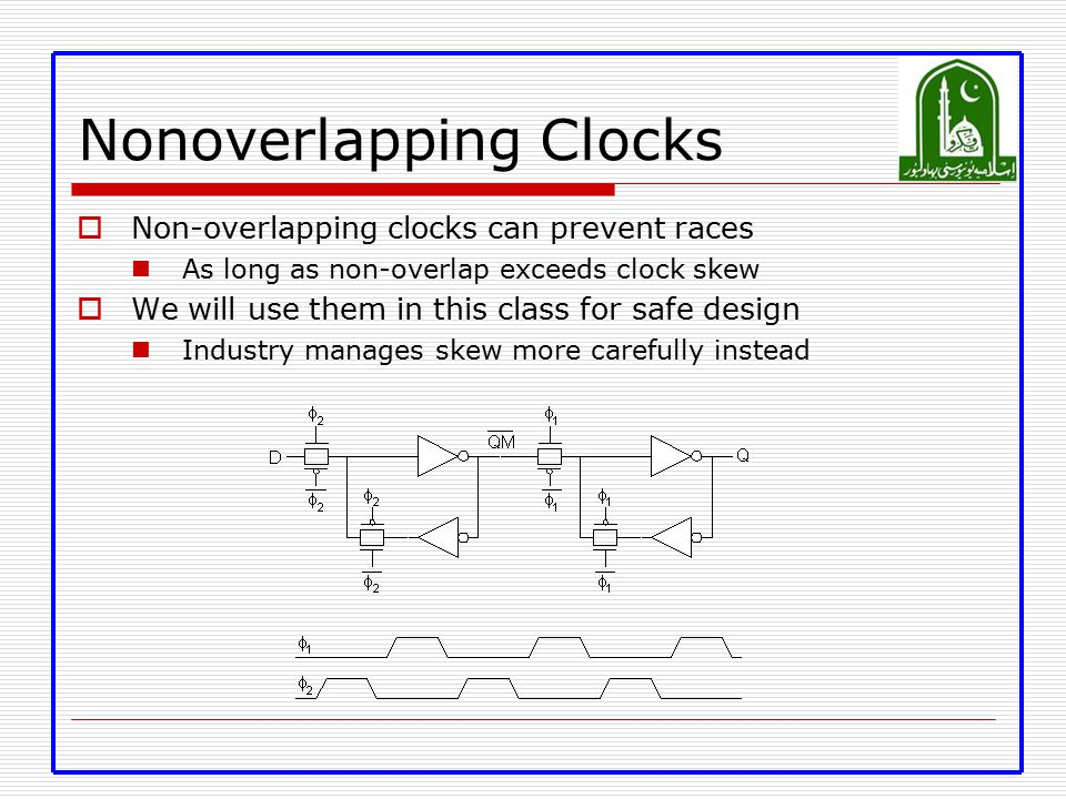 Nonoverlapping Clocks