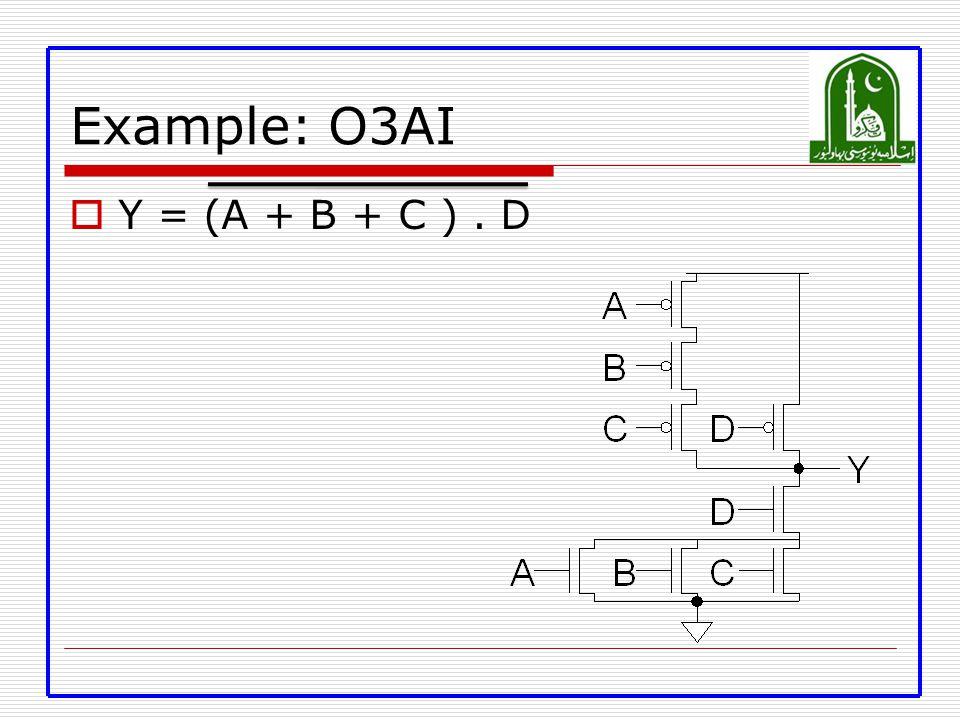 Example: O3AI Y = (A + B + C ) . D