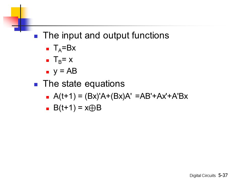 The input and output functions