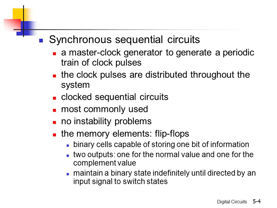 Synchronous sequential circuits