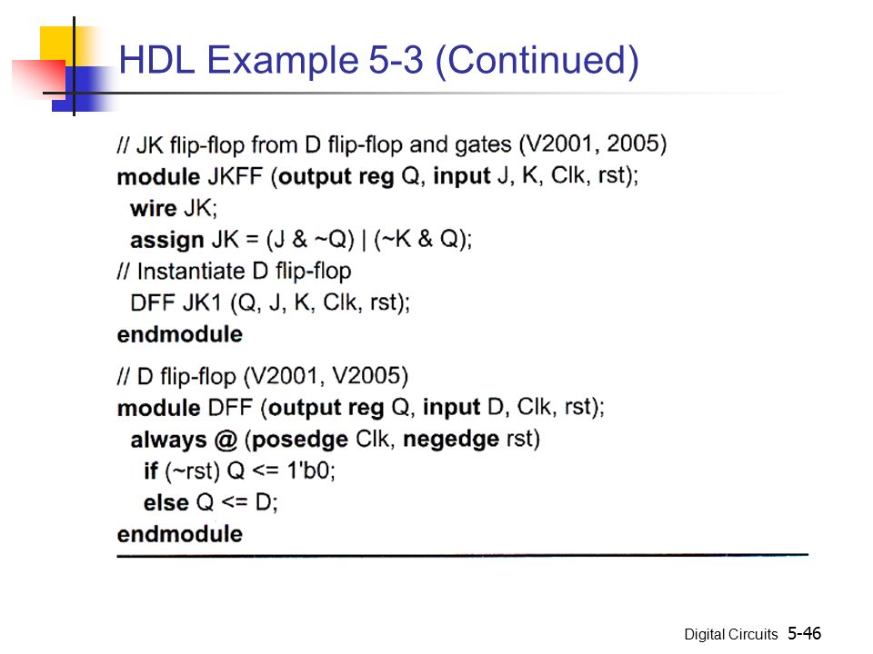 HDL Example 5-3 (Continued)