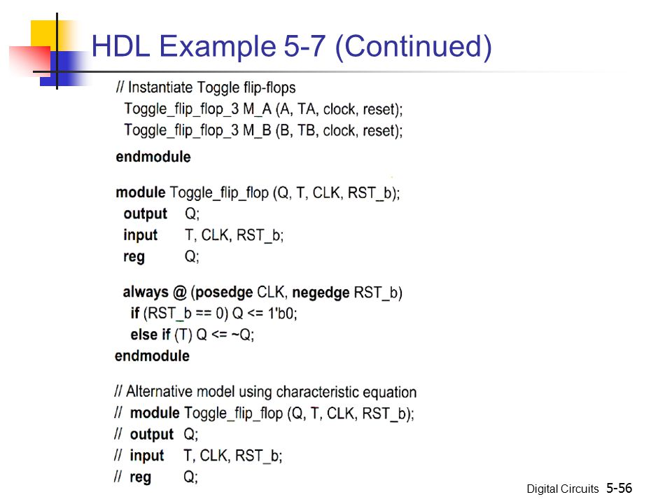 HDL Example 5-7 (Continued)