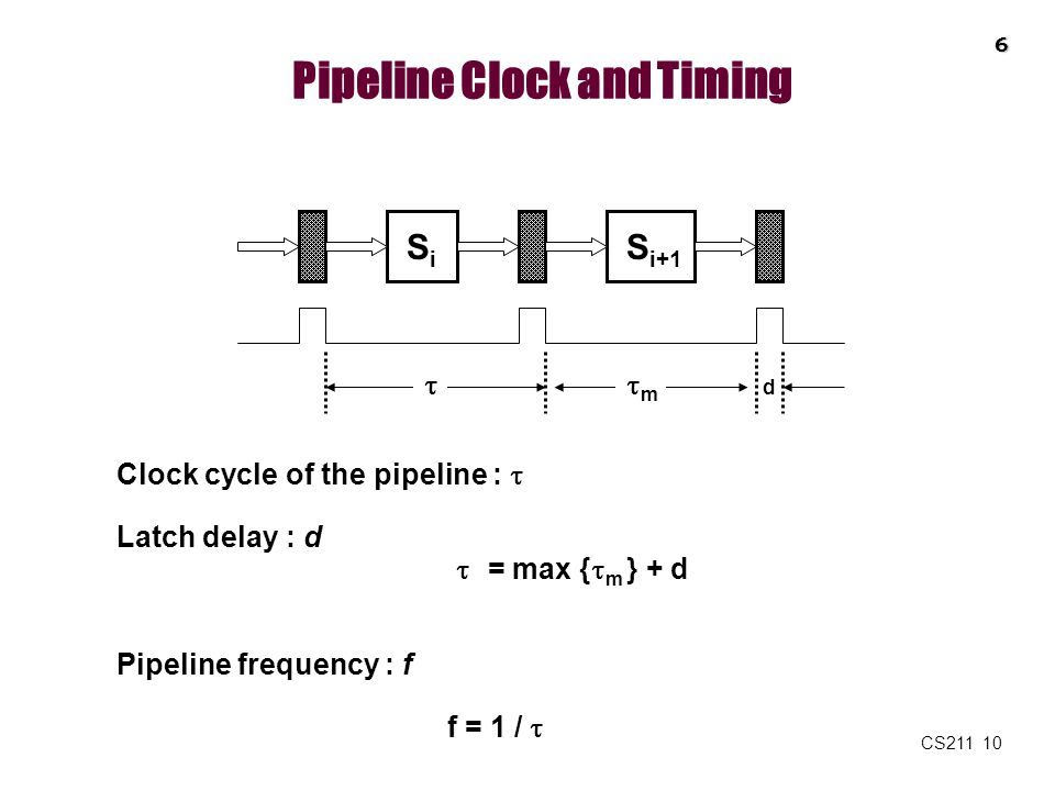 Pipeline Clock and Timing