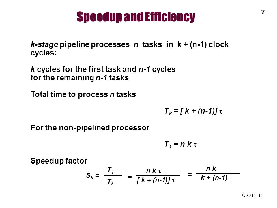 Speedup and Efficiency
