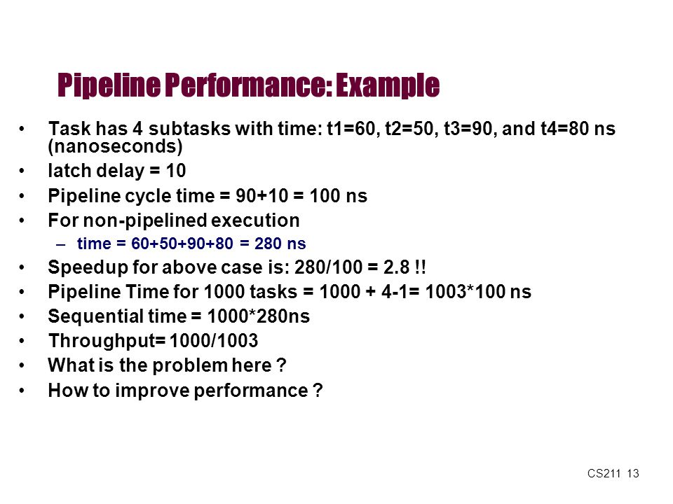 Pipeline Performance: Example