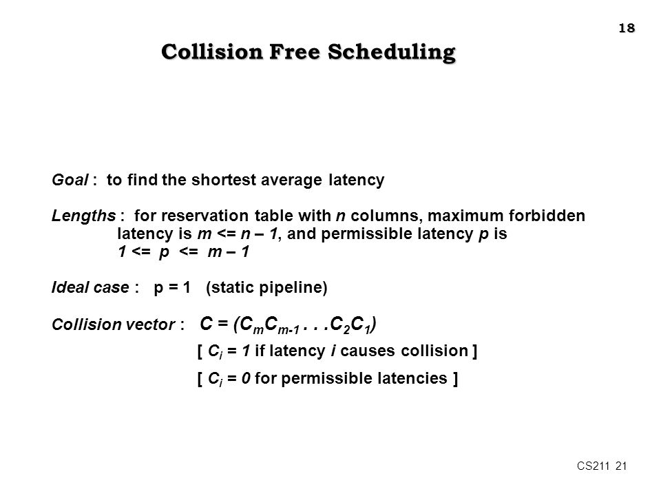 Collision Free Scheduling