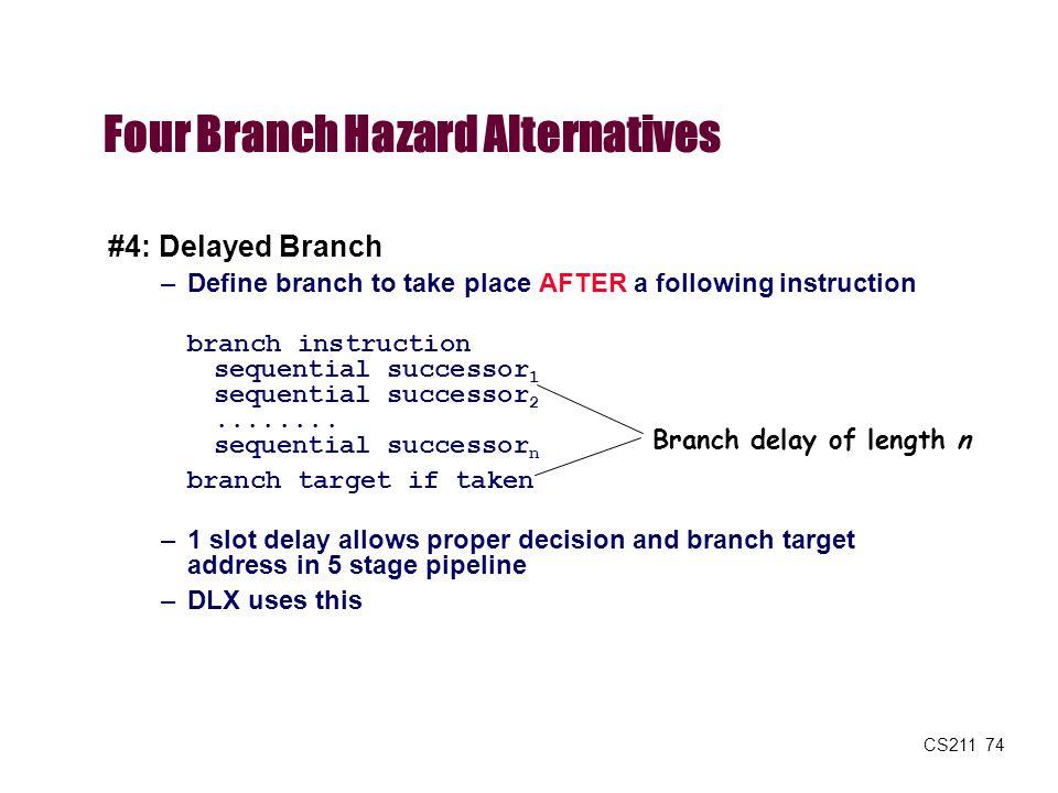 Four Branch Hazard Alternatives