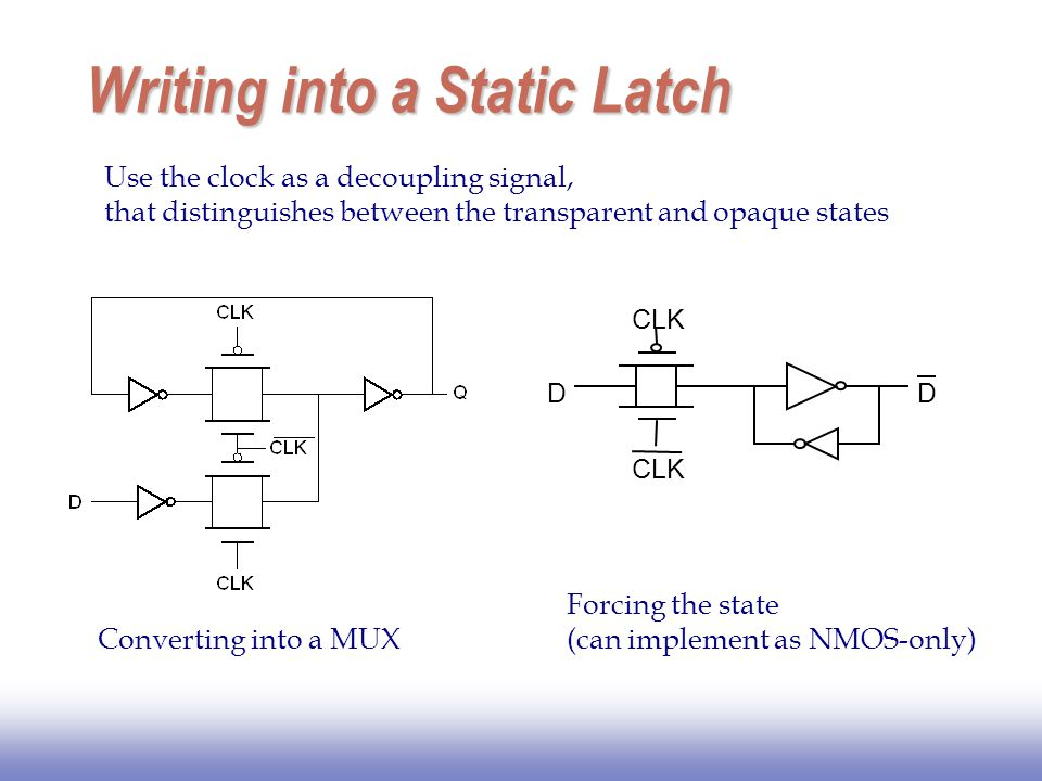 Writing into a Static Latch