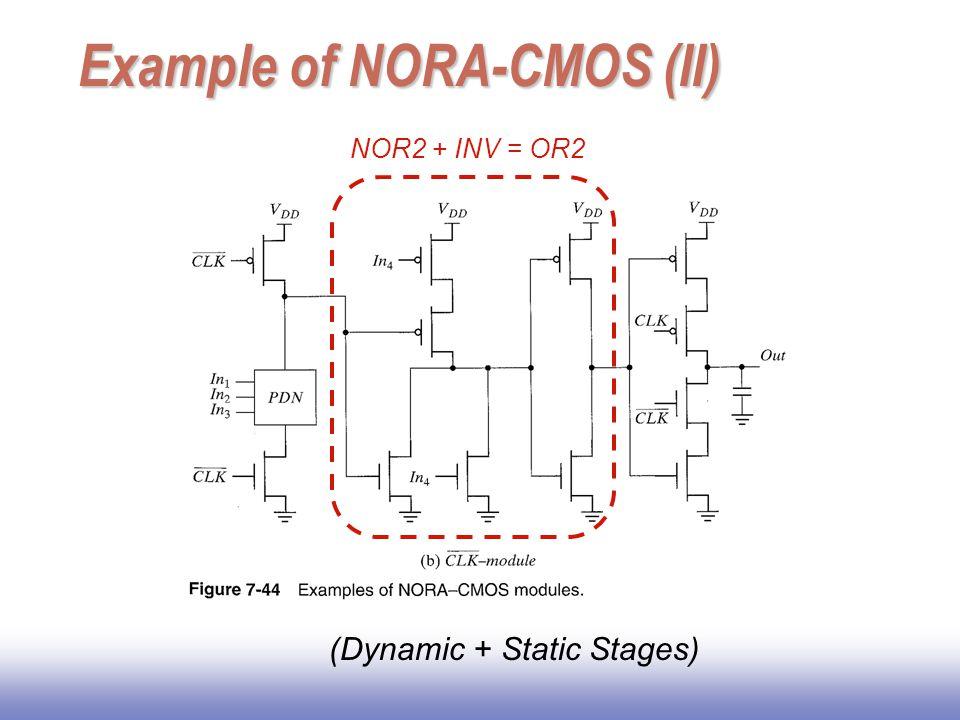 Example of NORA-CMOS (II)