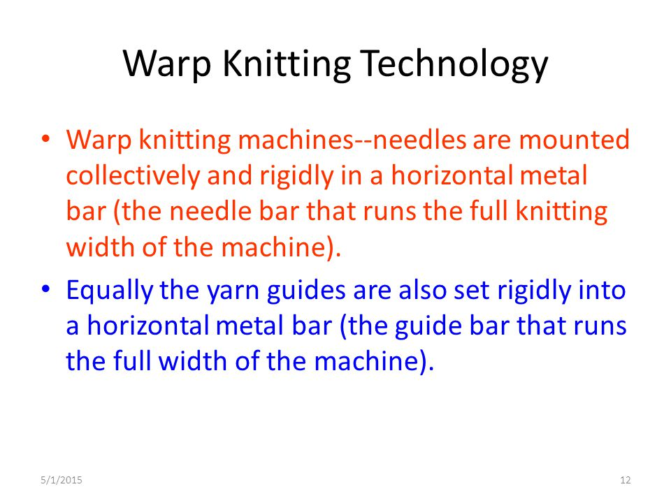 Warp Knitting Technology