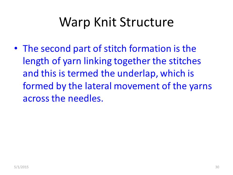 Warp Knit Structure