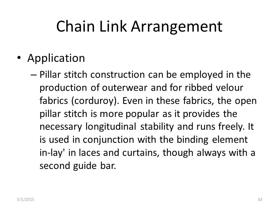 Chain Link Arrangement