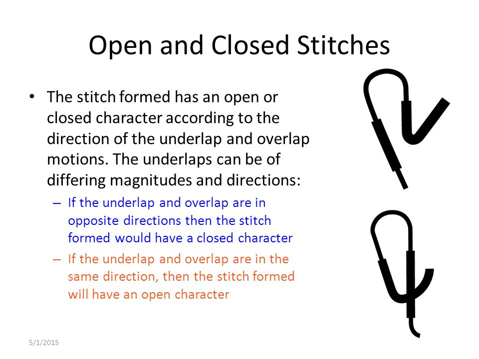 Open and Closed Stitches