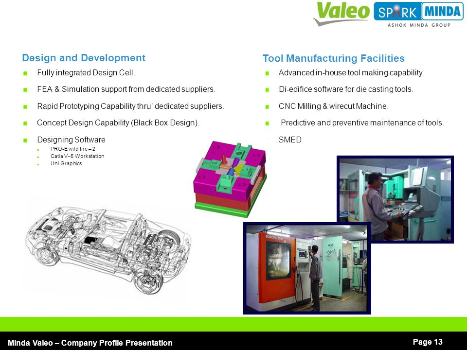 Design and Development Tool Manufacturing Facilities