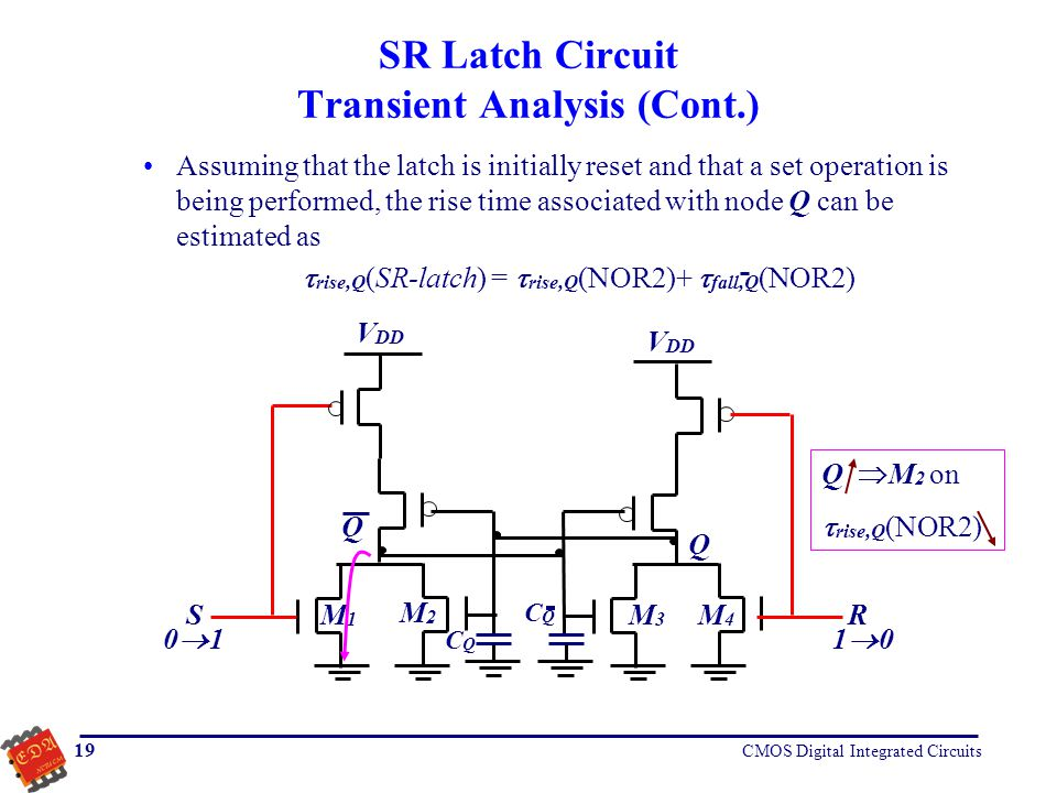 SR Latch Circuit Transient Analysis (Cont.)