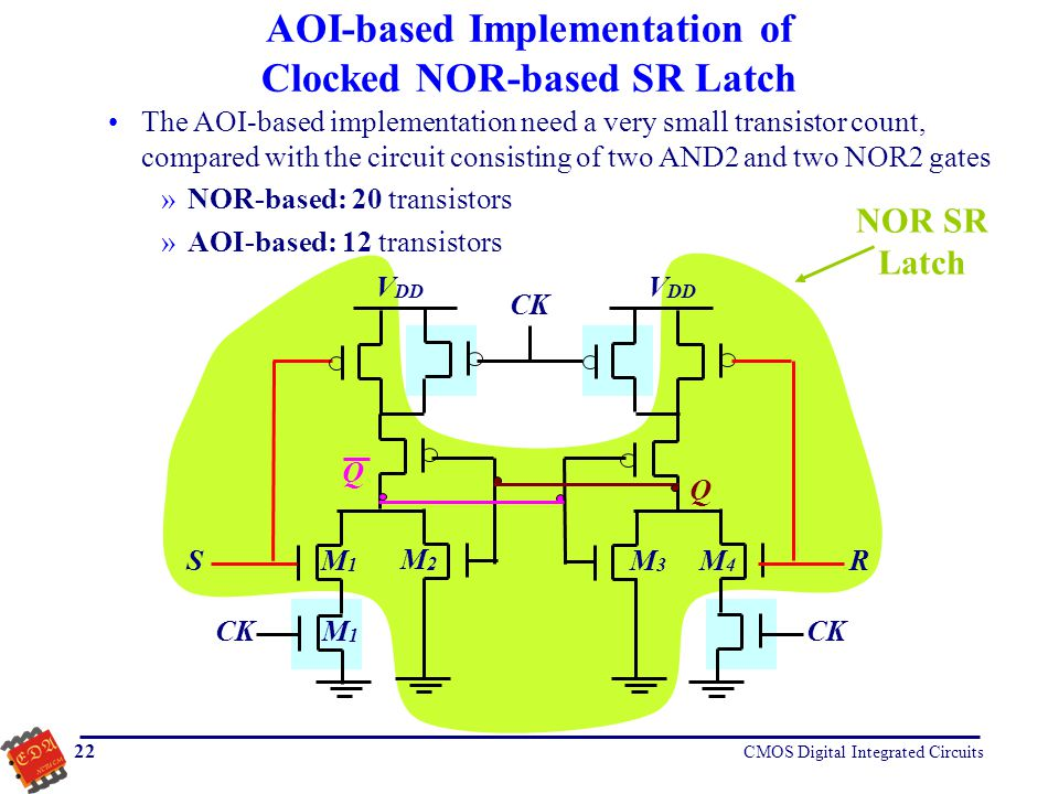AOI-based Implementation of Clocked NOR-based SR Latch