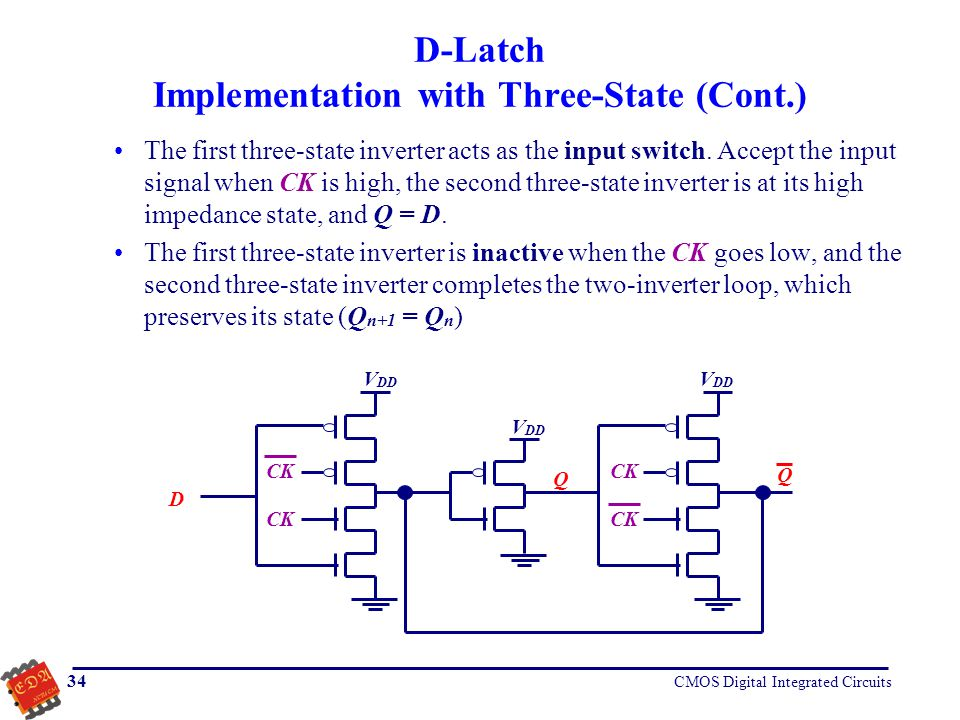 D-Latch Implementation with Three-State (Cont.)