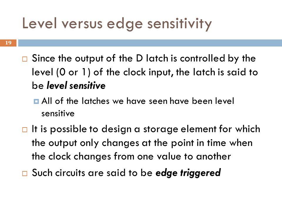 Level versus edge sensitivity