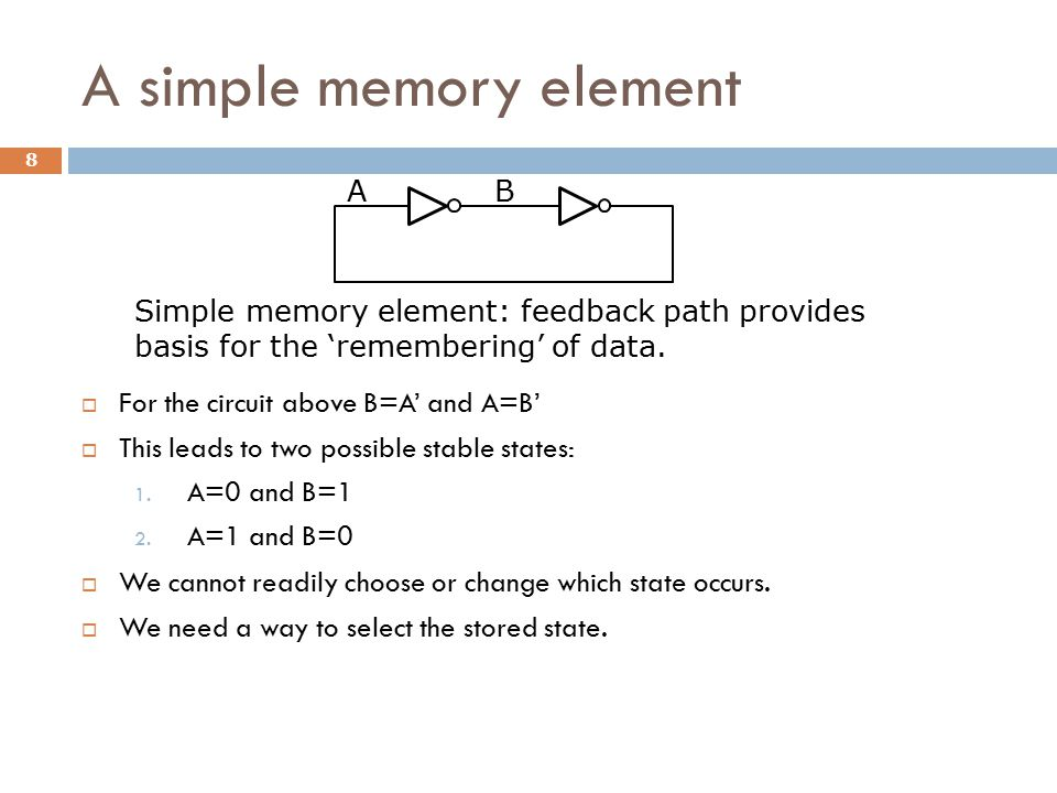 A simple memory element