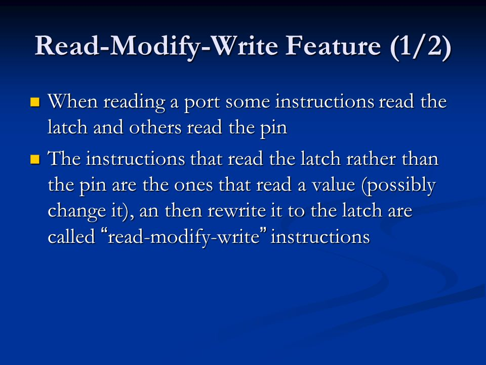 Read-Modify-Write Feature (1/2)