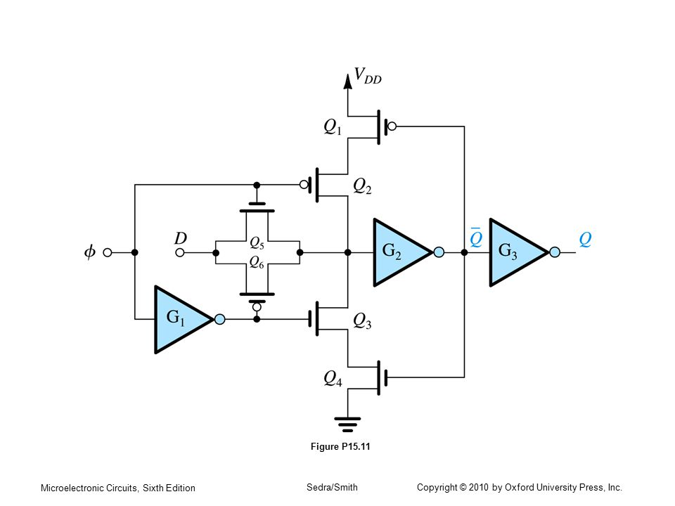 Figure P15.11 Microelectronic Circuits, Sixth Edition.
