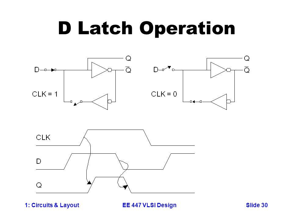 D Latch Operation