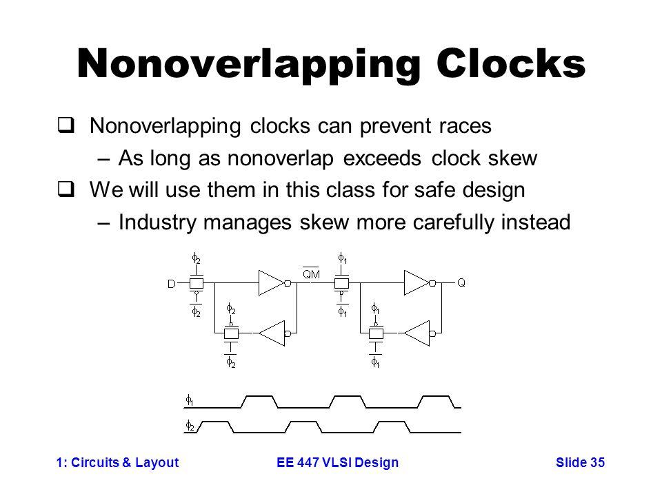 Nonoverlapping Clocks